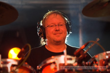 Drummer der Rockband Rosa